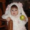 Зайка с яблоком!!!